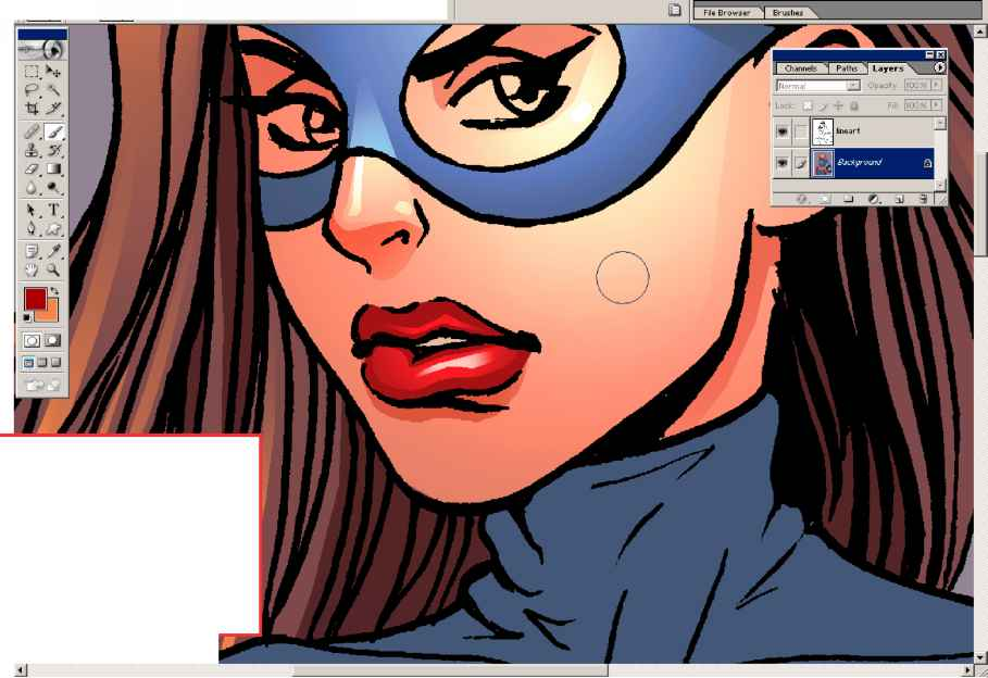 Comic Coloring Airbrush Tutorial